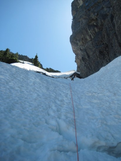 Mike Climbing NW Couloir