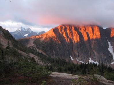 Alpenglow On Mt Hardy Face