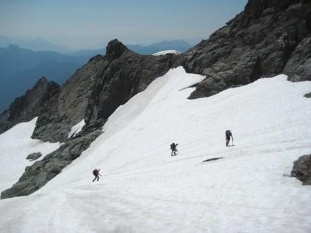 Climbing Diobsud Creek Glacier