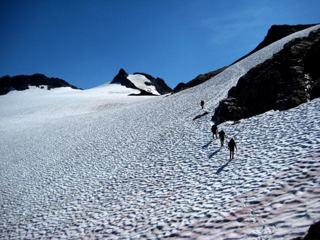 Descending Green Lake Glacier