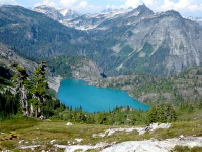 Green Lake from Bacon Peak meadows