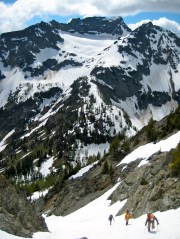 Martin Peak From Black Tower Couloir
