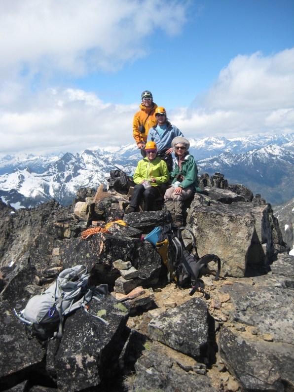 Group On WyEast Mountain Summit