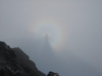 Sundog Shadow From Summit