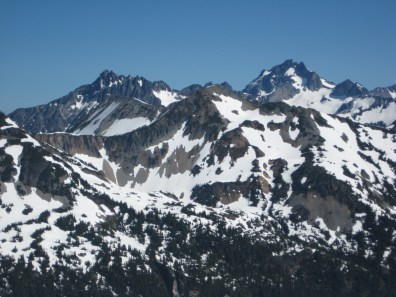 Bear Mountain and Mt Redoubt From Whatcom Glacier