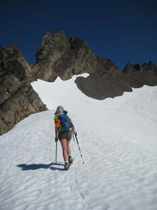 Climbing Toward Echo Col