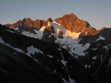 Alpenglow On North Face Of Mt Formidable