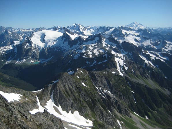 Agnes Mountain To Glacier Peak Pano From Summit