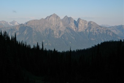 Hozomeen Mountain From Camp