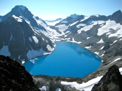 Mt Spickard and Silver Lake From Summit