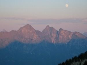 Moon Over Hozomeen Mountain