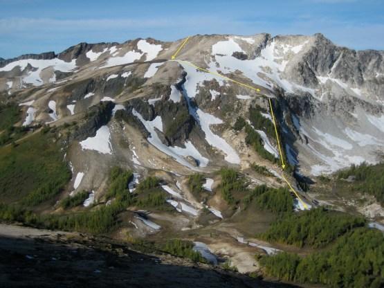 Berge Ridge Descent Route