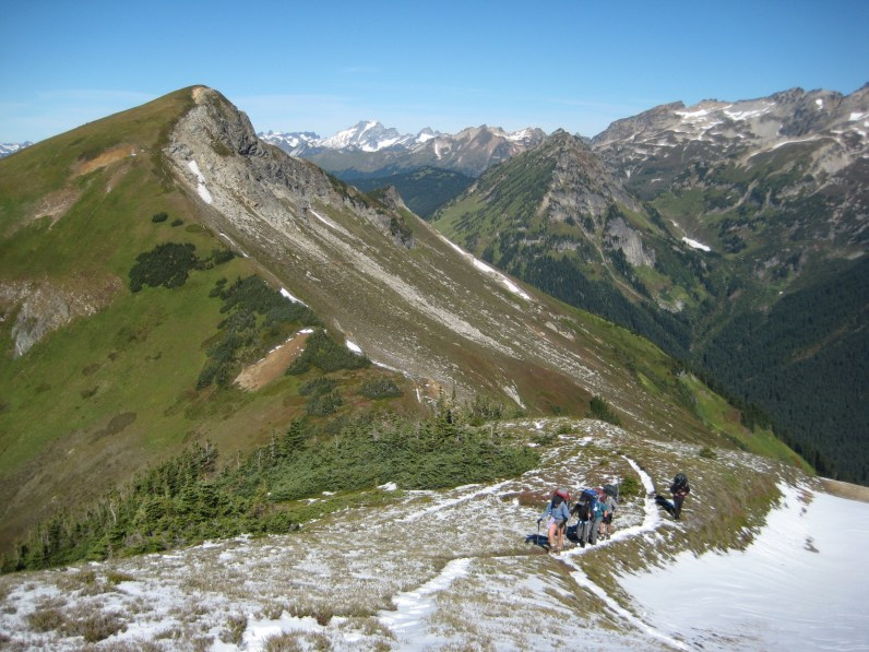 Hikers Approaching High Pass