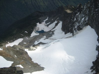 King lake and King Glacier From Summit