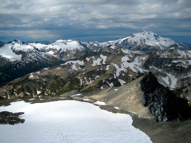 DaKobed Peak and Glacier Peak From Buck Mountain