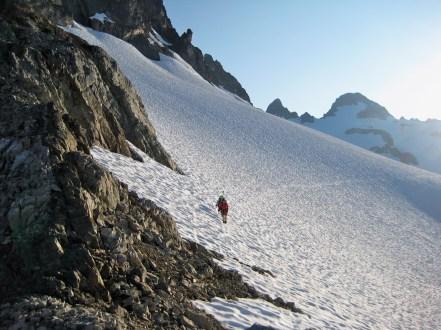 Traversing High Snowfield