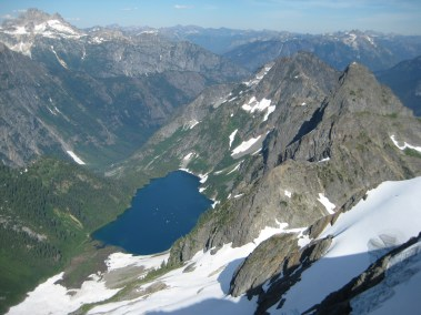 Trapper Lake From Hurry-Up Peak