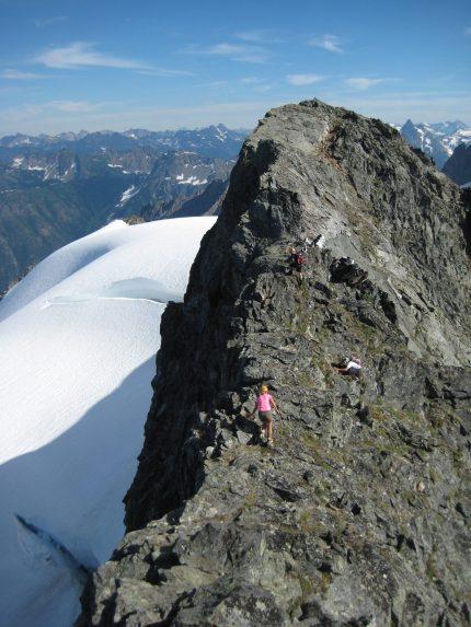 Scrambling Up Hurry-Up Peak
