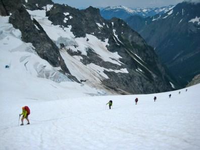 Ascending Middle Cascade Glacier
