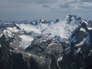 Chikamin Glacier From Old Guard Peak Summit