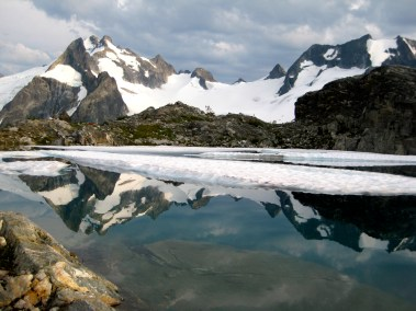 Dome Peak & One-Eyed Bull Peak From White Rock Lakes