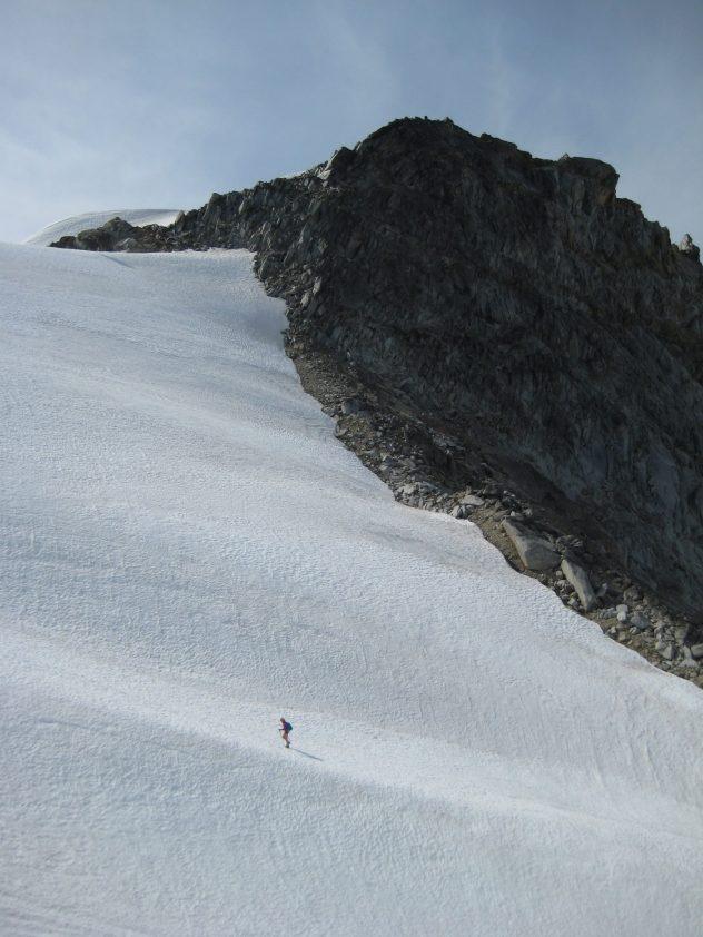 Eileen Climbing Upper Dome Glacier