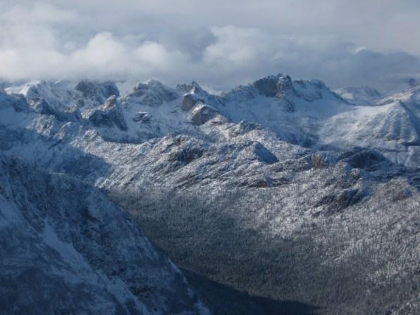 Early Winter Spires and Kangaroo Ridge From Summit