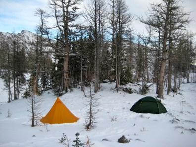 Camp At Scatter Lake