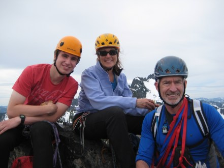 Derek, Eileen, and Jim on Summit of Snoqualmie Tooth, Mother's Day Climb