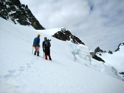 Crossing Upper Kimtah Glacier