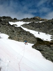Climbing Upper South Face