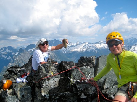 George and Eileen On Agnes Mountain Summit