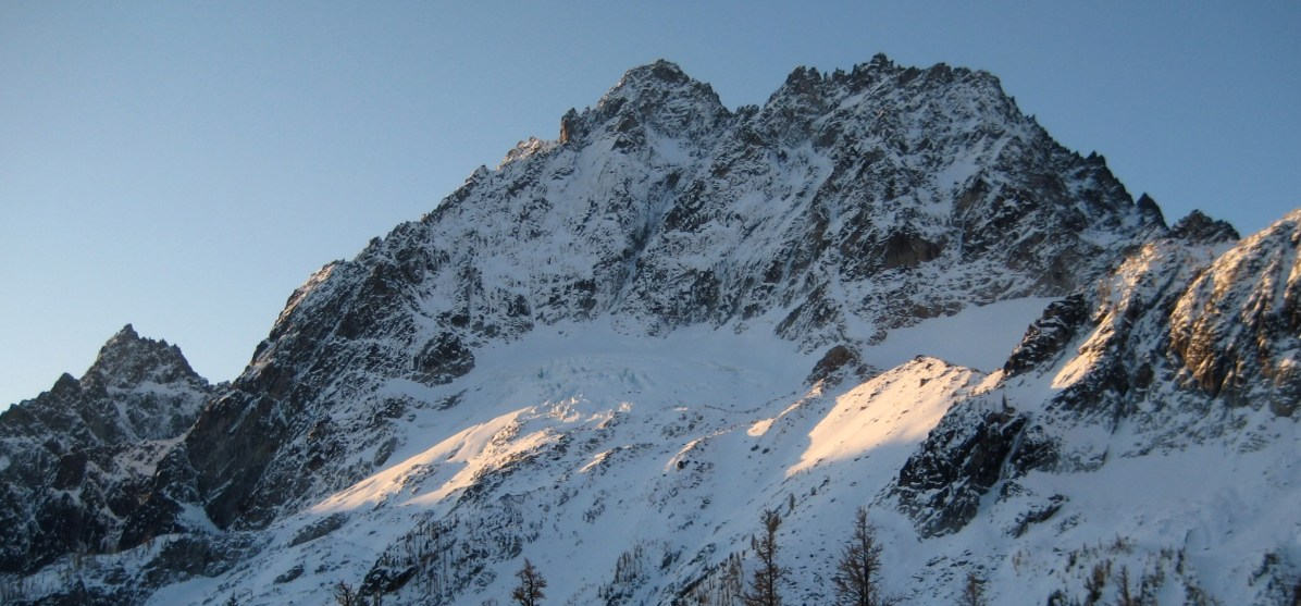 Northwest Face Of Mount Stuart From Camp