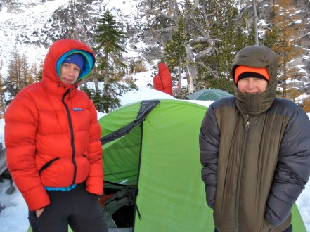 Keely and Lisa In Chilly Camp
