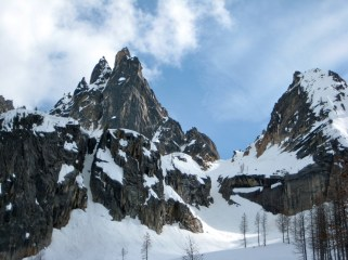 The Wine Spires and Burgundy Col From Camp