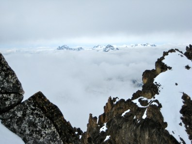 Mount Goode, Mount Buckner, Black Peak, and Mount Logan From Summit