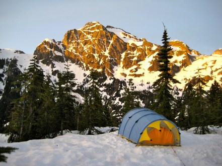 Morning View From Knoll 4555 Camp