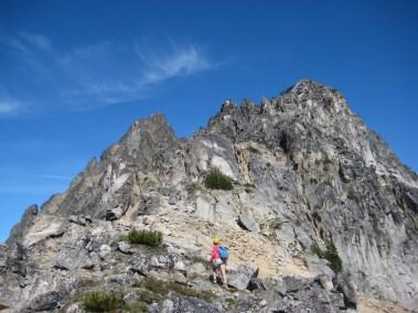 Heading Up South Ridge