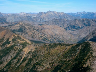 Robinson Mountain and PCT Above Glacier Pass