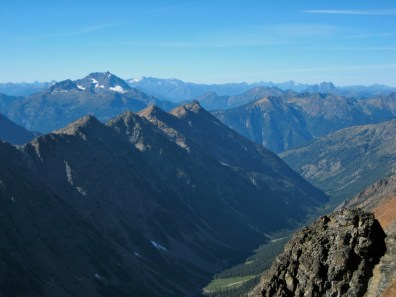 Jack Mountain and Majestic Mountain From Azurite Peak