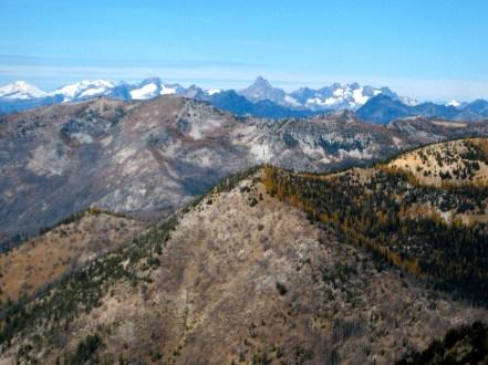 Mt Buckner, Mt Goode, and Mt Logan From Baldy Mountain