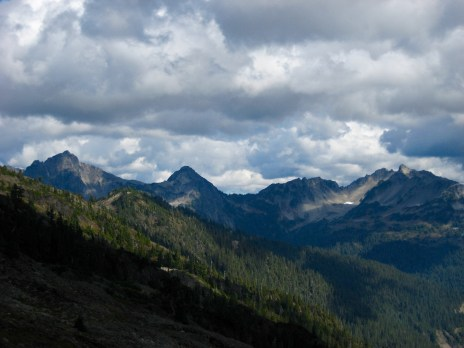 Mount Meany, Mount Noyes, and Mount Seattle From Trail