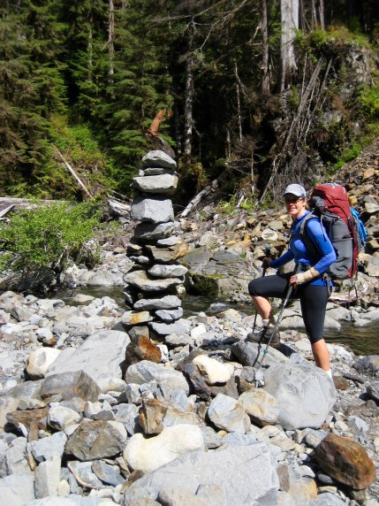 Trail Cairn On North Quinault Trail