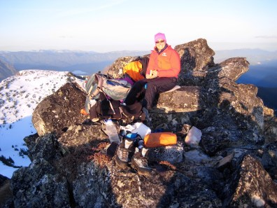 Cooking Dinner On Mount Howard Summit
