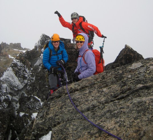 George, Kevin, and Eileen On Summit