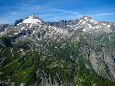 Sahale Peak and Mt Buckner From Mixup Peak