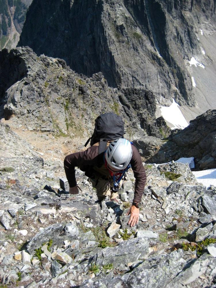 Matt Scrambling Up To False Summit