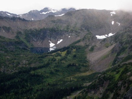 Larch Lake and Cup Lake From McWaukum Pass