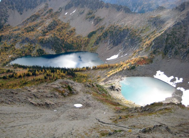 Larch Lake and Cup Lake From Deadhorse Peak