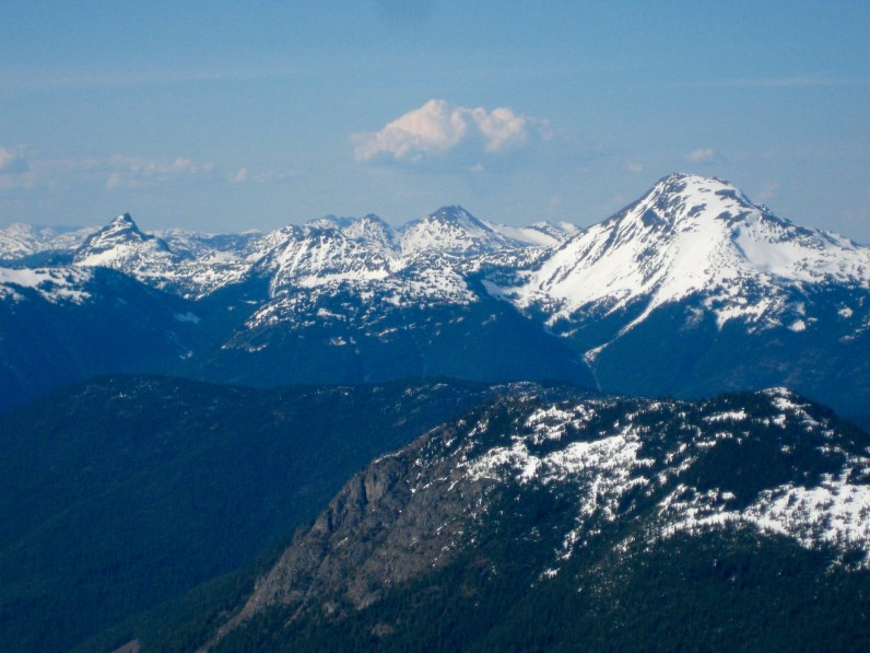 Coquihalla Mountains and Mount Outram From Mount Rideout